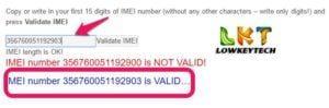 imei validation check