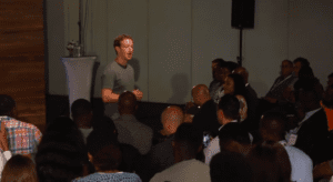 Mark in facebook townhall in lagos