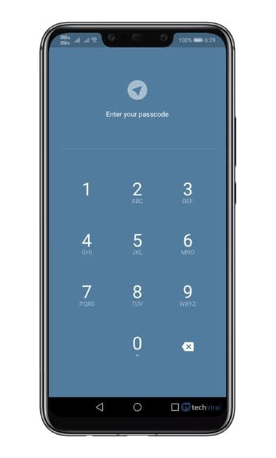 Locked Telegram App