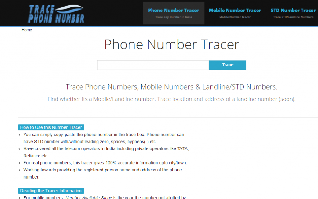 Trace Phone Number