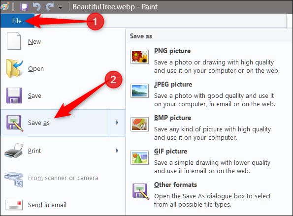 Click on the 'File > Save As'