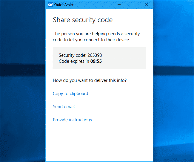 Sign in to the Microsoft account to recieve a security code