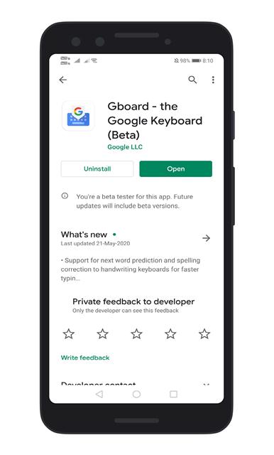 Install/Update Gboard App