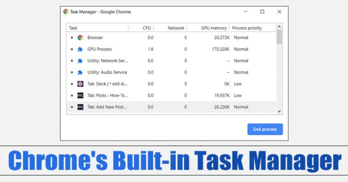 Use Google Chrome's Built-in Task Manager