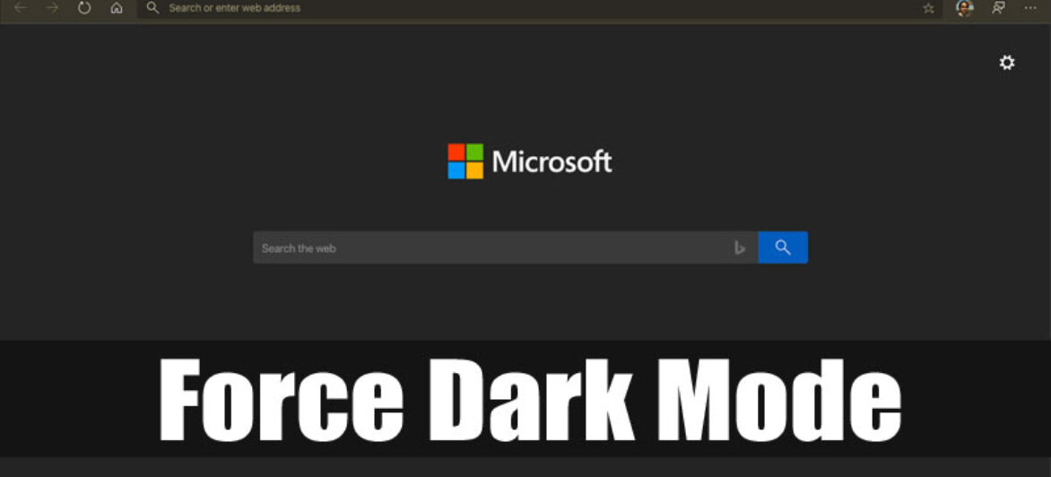 How to Force Dark Mode on Websites in Edge Browser