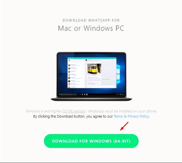 Download the WhatsApp desktop client