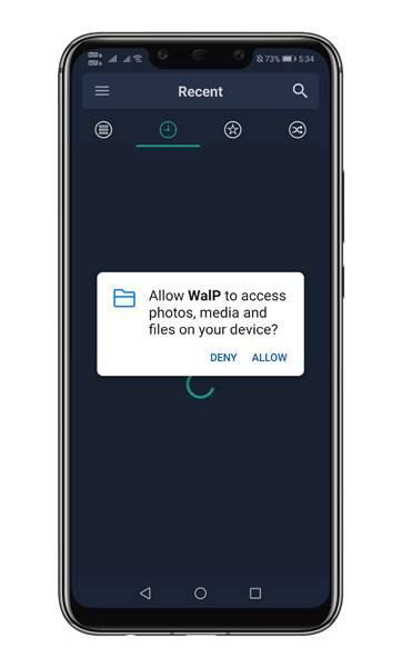 open the app and grant the permissions