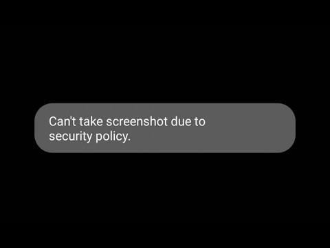 How To Fix Can't Take Screenshot Due To Security Policy Error