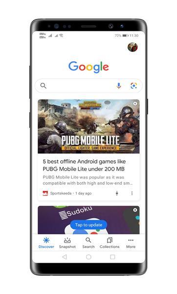 open Google App