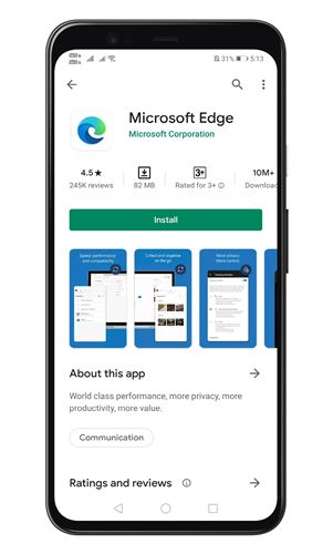 install the Microsoft Edge Browser