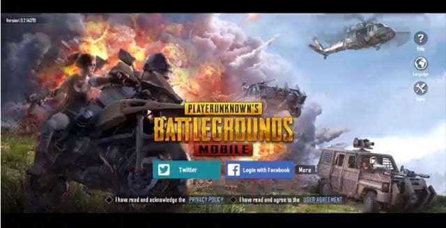 Login with your PUBG Mobile Account
