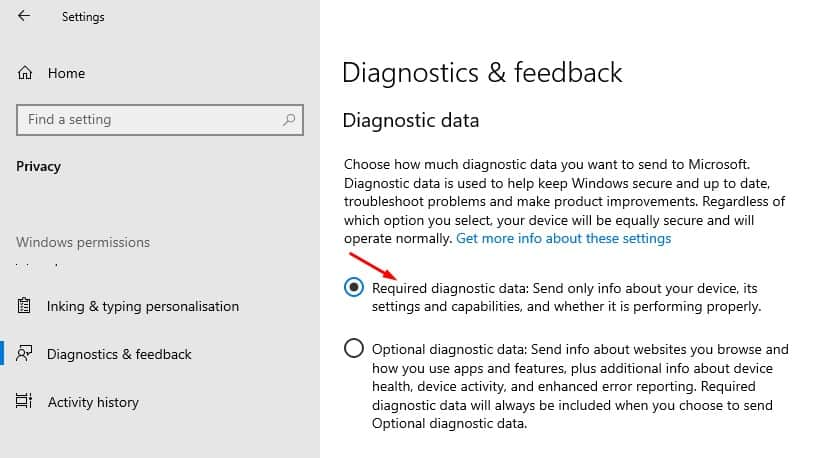 Change how much data you send to Microsoft