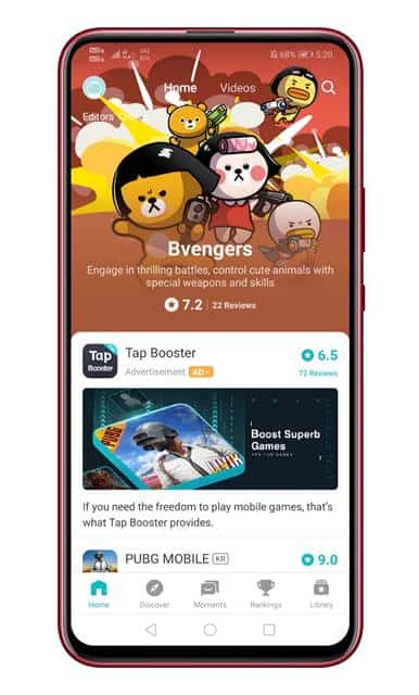 launch the TapTap Android app