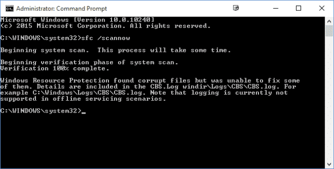 Scan your System files for corruption