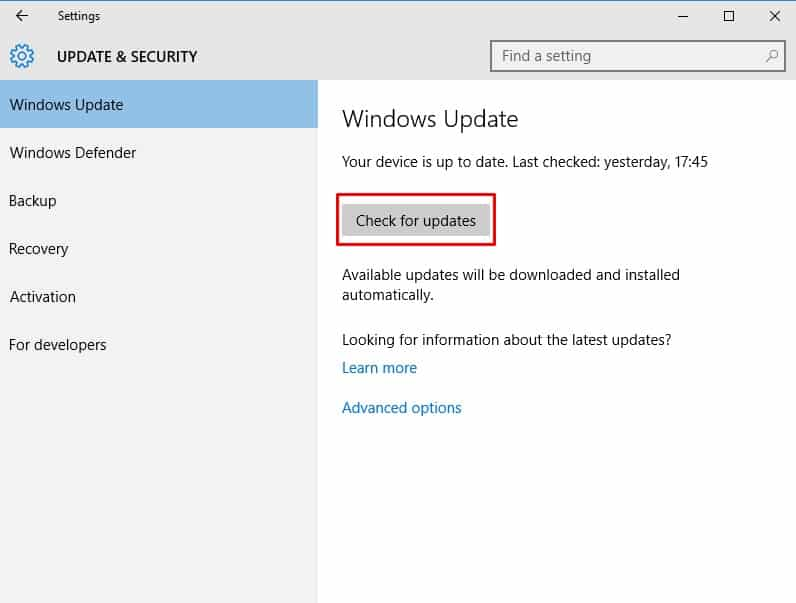 Install Pending Updates