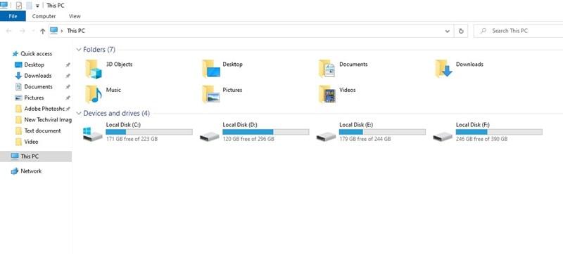 open File Explorer