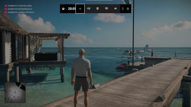 click the menu button