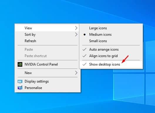 Hide all Desktop icons