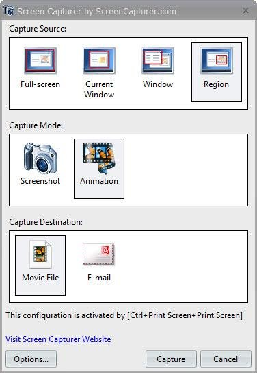 Capture using Free Screen Capturer