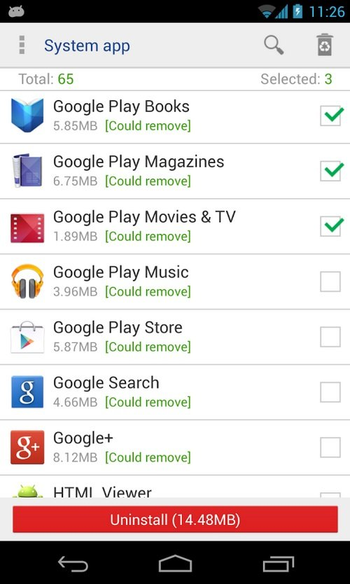 Using System App Remover