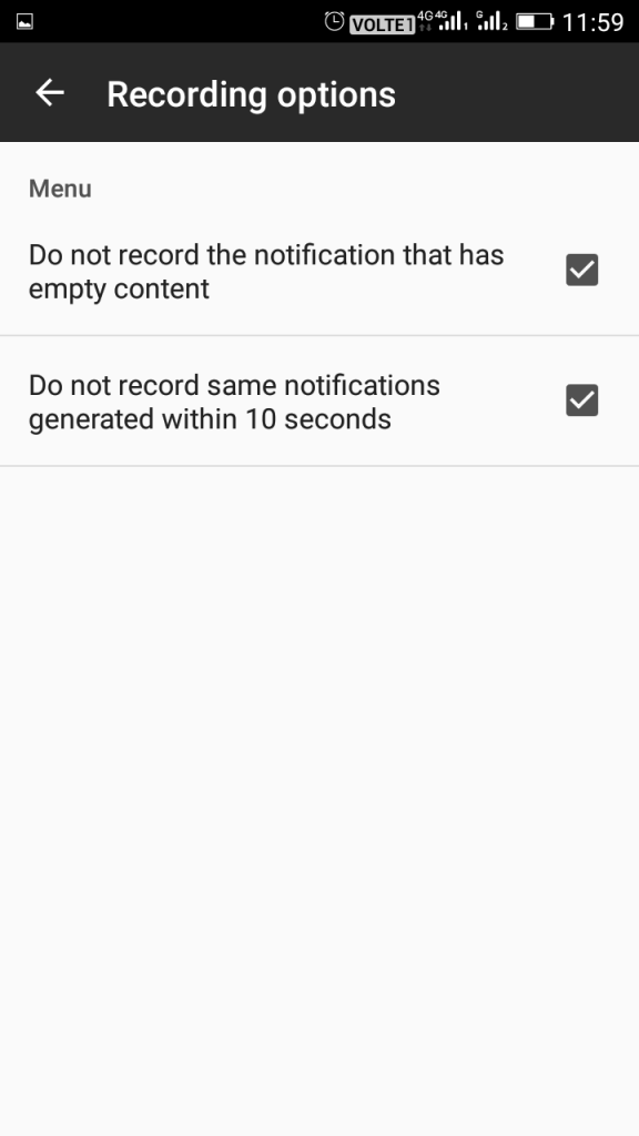 Timeline-Notifications history