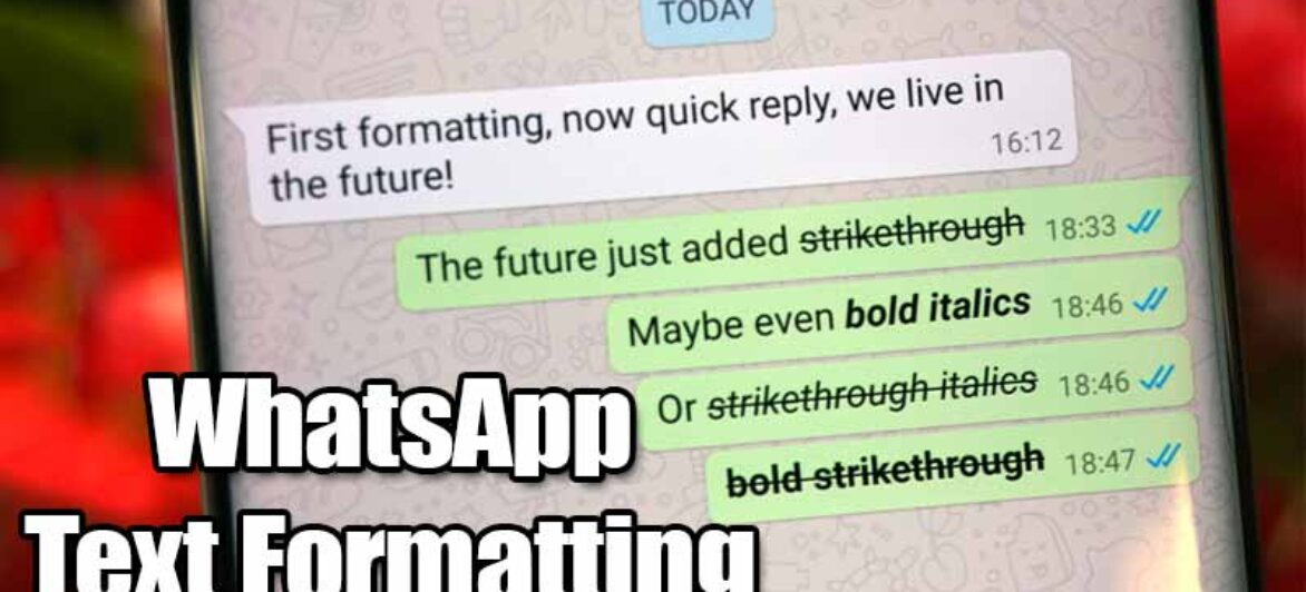 How to Send Italic, Bold, or Monospaced Text Messages